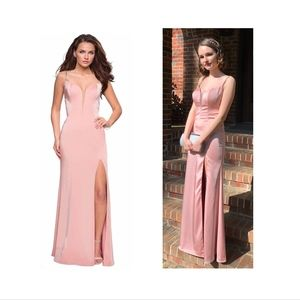 Formal Dress {2} Blush Pink Plunging Sweetheart